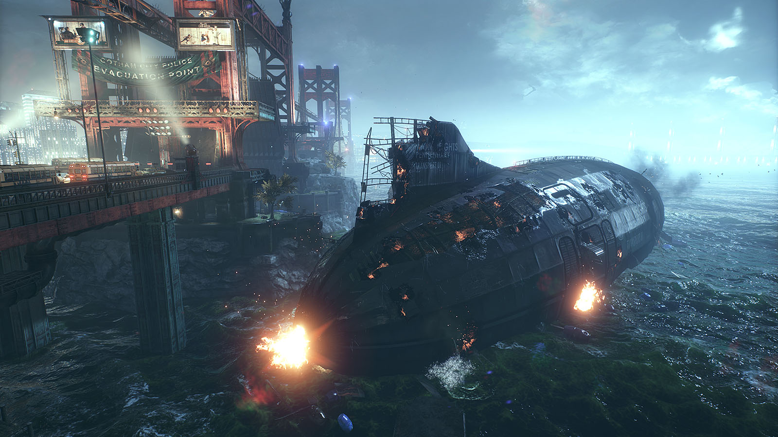batman arkham knight dlc iron height penitentiary airship